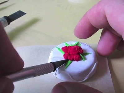 How to make a Wedding Cake with Polymer Clay. Fimo