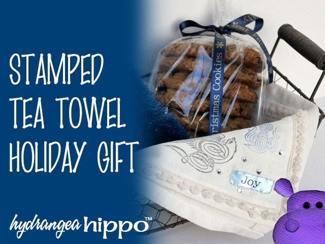How to Make Hand-Stamped Christmas Tea Towels by Jennifer Priest for Handmade Holidays