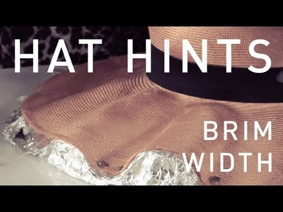How To Make Hats - Brim Width