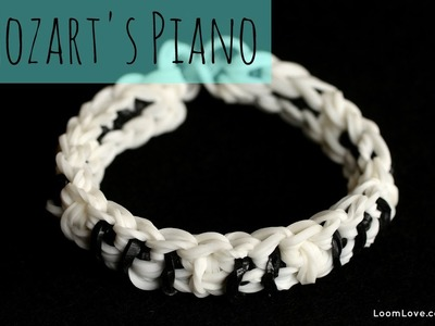 How to Make Mozart's Piano Rainbow Loom Bracelet