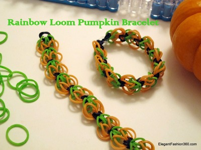 How to make Rainbow Loom Pumpkin Bracelet