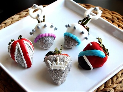 How To Make Royal Baby Themed Chocolate Covered Strawberries | Great Ideas | PEOPLE