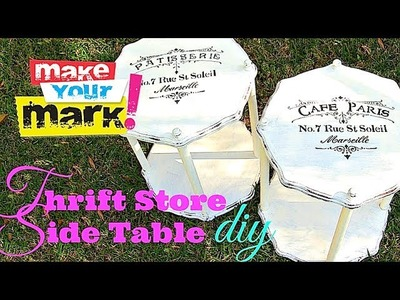 How to: Thrift Store Side Table Makeover