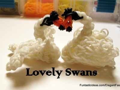 Lovely Swan Charm - How to Rainbow Loom Design - Animal Series