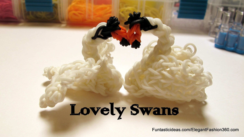Lovely Swan Charm - How to Rainbow Loom Design - Animal Series