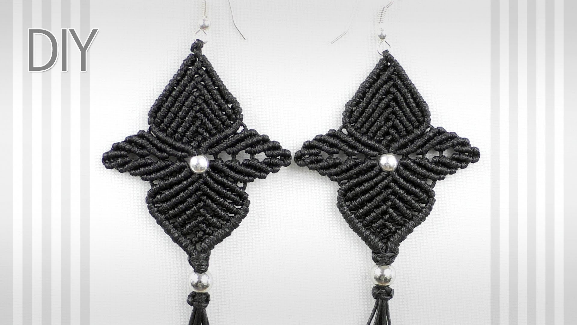 Macrame Flower Star Earrings - Tutorial