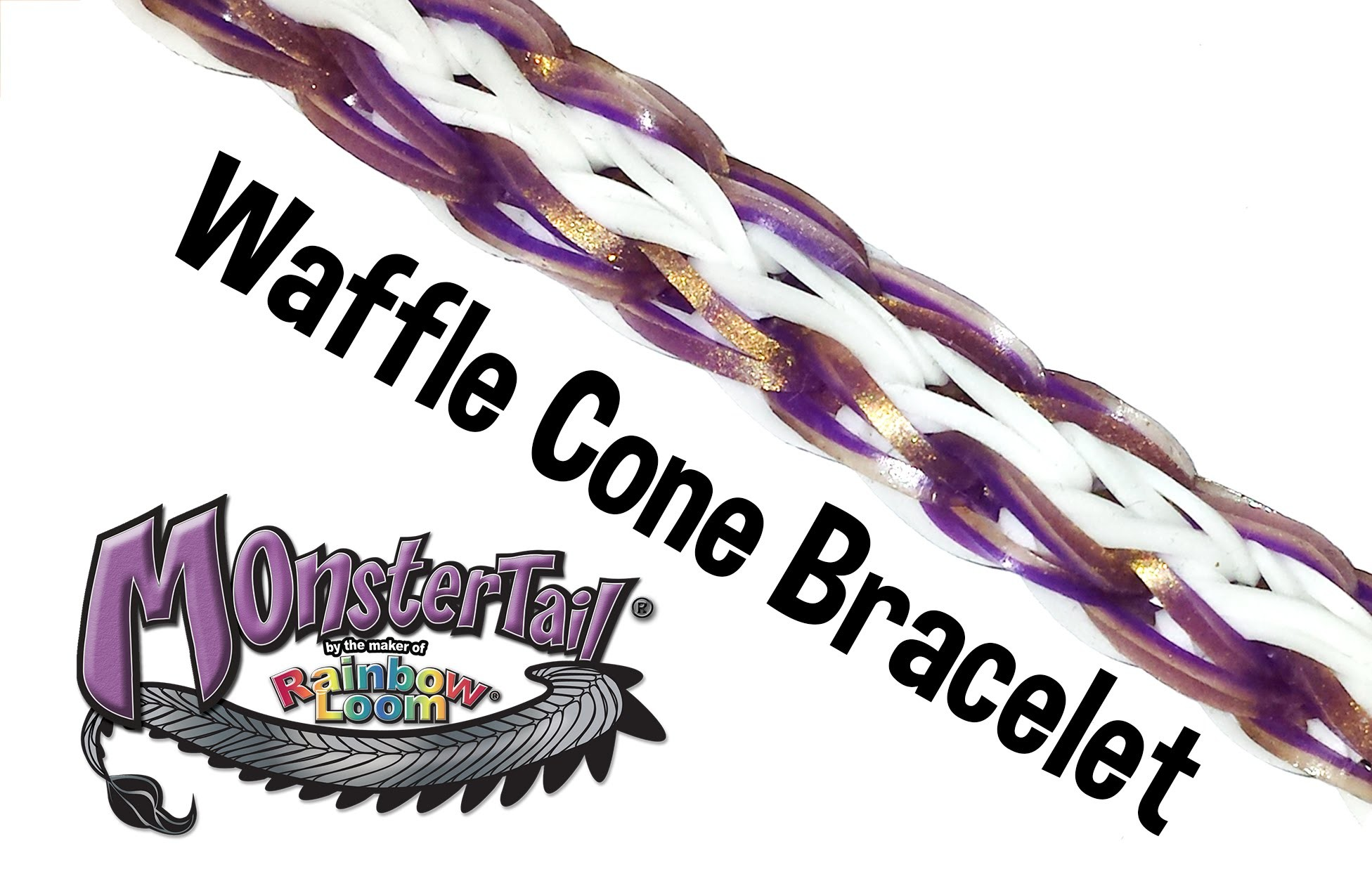 Monster Tail™ Waffle Cone Bracelet by Rainbow Loom