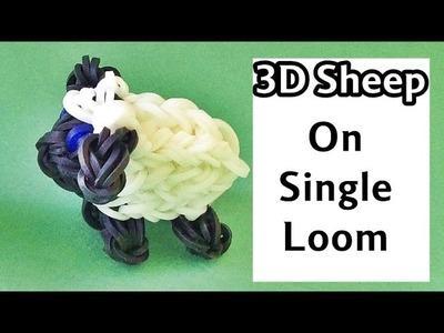 One Loom Rainbow Loom Charms 3D Sheep | loom bands animals