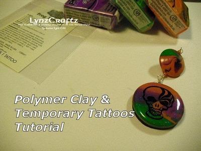 Polymer clay & Temporary Tattoos tutorial