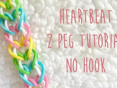 Rainbow Loom Heartbeat 2 Peg No Hook