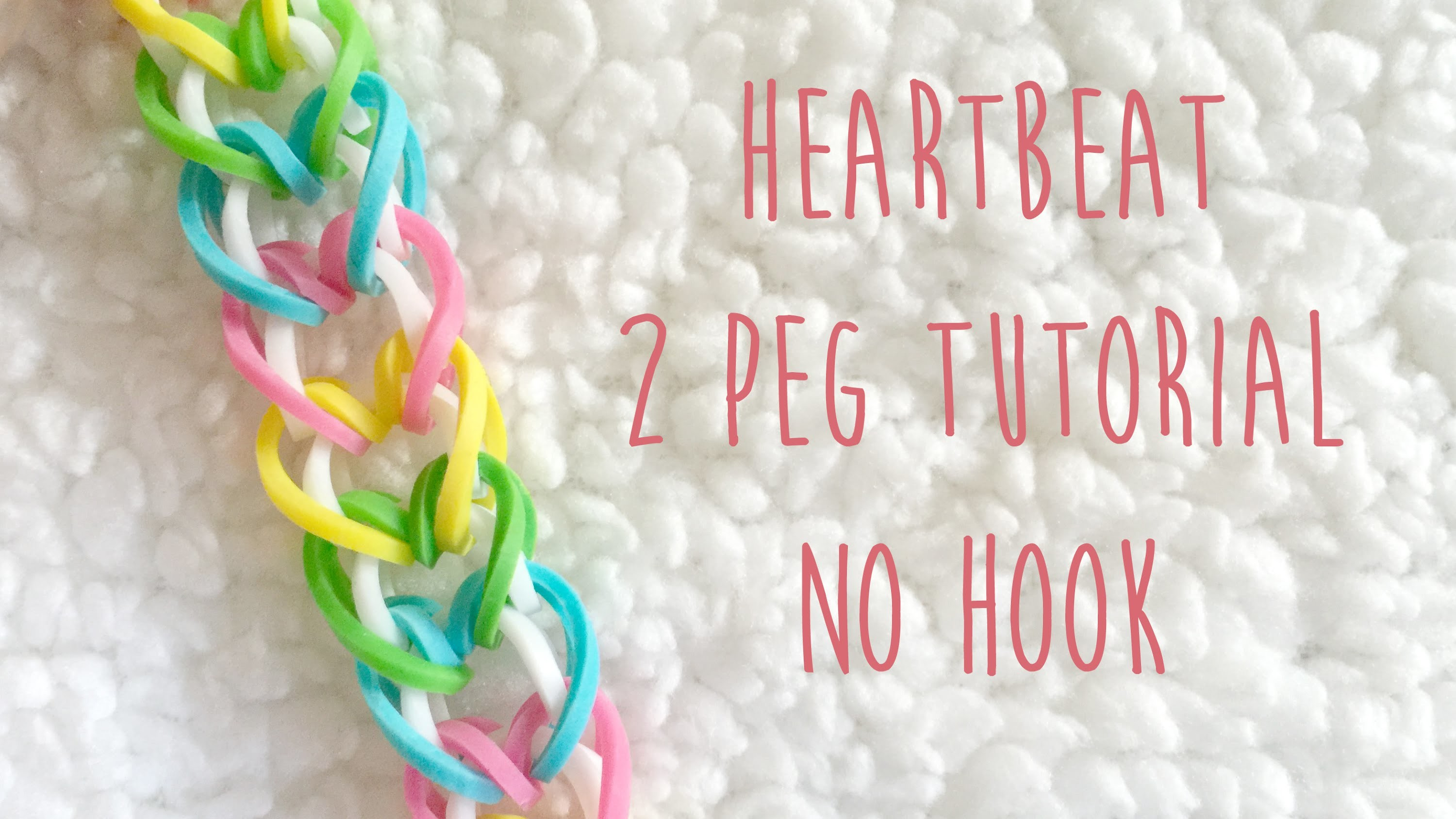 Rainbow Loom Heartbeat 2 Peg No Hook