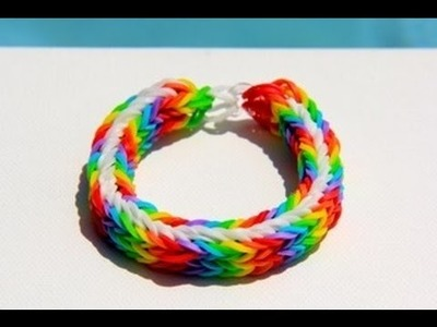 Rainbow Loom - Memphis Bracelet (Original Design) English Tutorial - Loom bands
