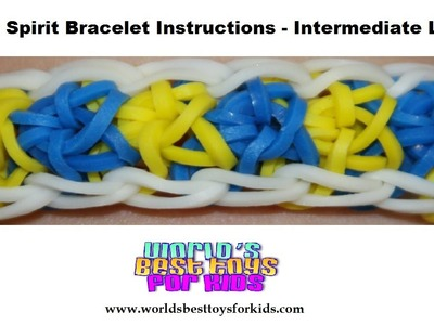 Rainbow Loom Rubber Band Refill - Team Spirit Bracelet Instructions