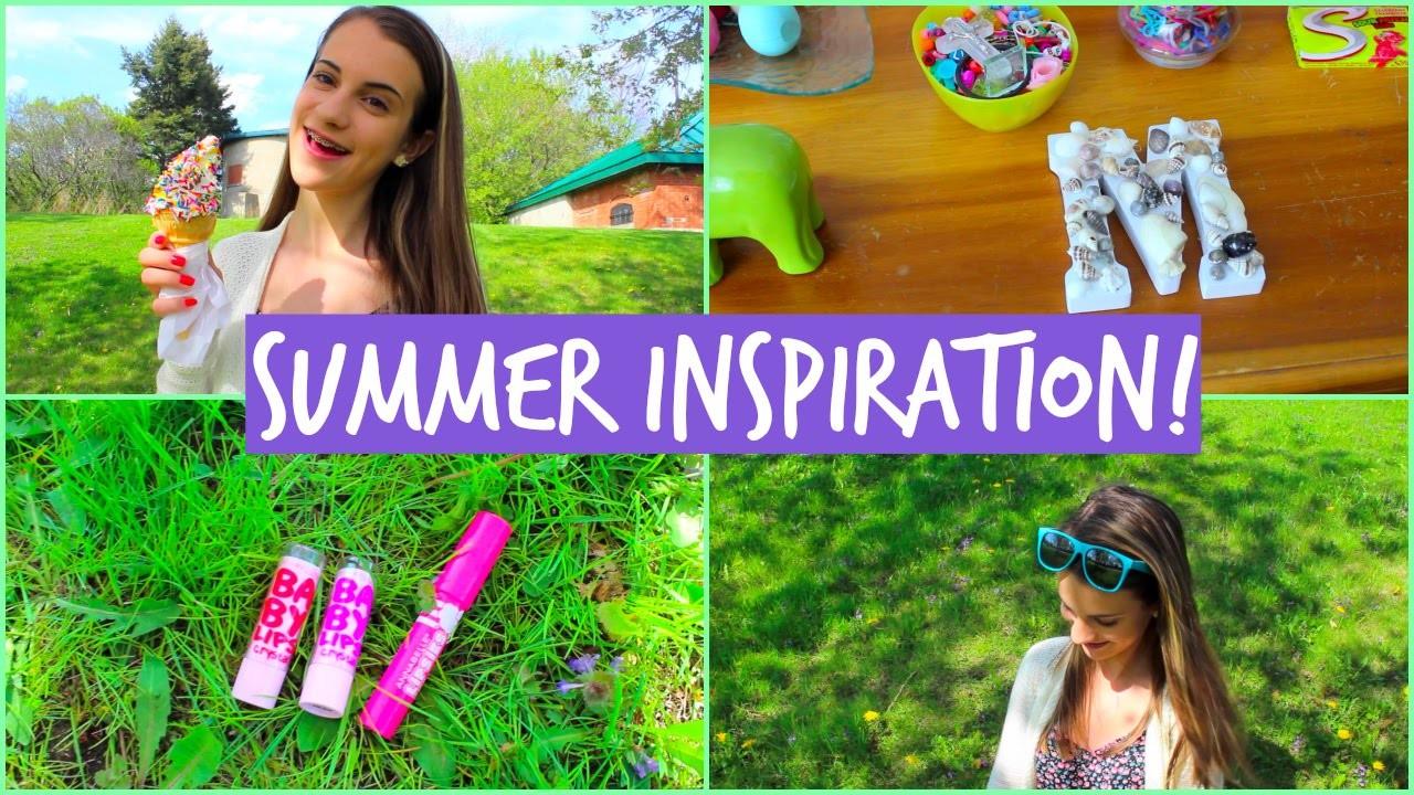 Summer Inspiration! DIY Tumblr Room Decor, Outfit Idea, & Essentials!