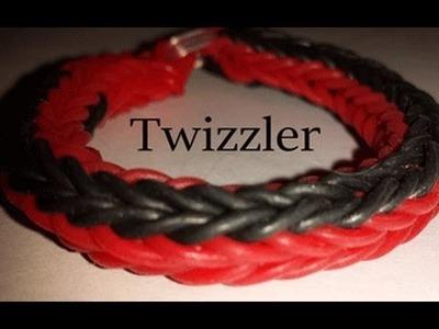 Twizzler Rainbowloom Bracelet on a  Fork ADVANCED