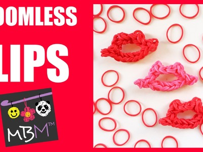 Valentine's Day Loomless Lips Charm with Rainbow Loom Bands