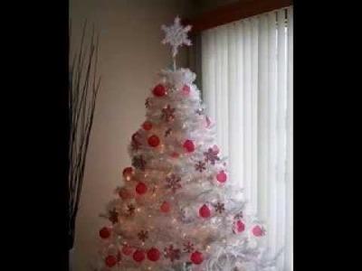 White christmas tree decor ideas