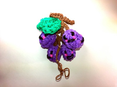 3-D Happy Grapes Tutorial by feelinspiffy (Rainbow Loom)