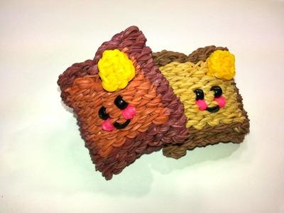 3-D Happy Toast Tutorial by feelinspiffy (Rainbow Loom)