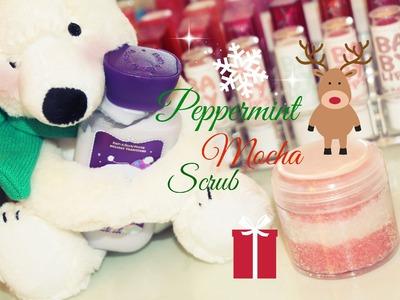 DIY Body Scrub! Peppermint Mocha Sugar Scrub Inexpensive Holiday Gift Idea