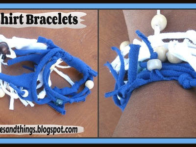 DIY T- Shirt Bracelets. How to Make a Beaded T-Shirt Yarn Bracelet