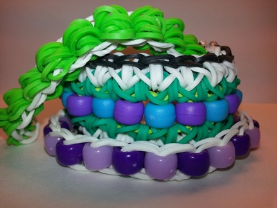 EASIEST Beaded.Banded Single Tutorial by feelinspiffy (Rainbow Loom)
