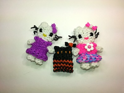 Hello Kitty Dress Tutorial by feelinspiffy (Rainbow Loom)