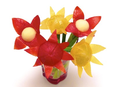 How to Make a Cherry Tomato Flower (HD)