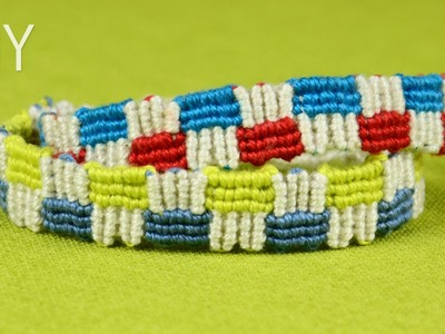 How to Make a Macrame Friendship Bracelet with Squares