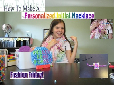 How To Make A Personalized Initial Necklace! Fashion Friday! ♫