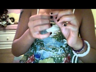 How to make a rubber band.hair elastic bracelet