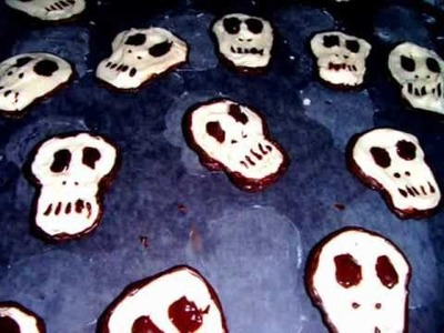 How To Make Chocolate Skull Cupcake Toppers