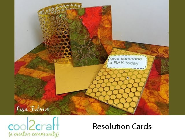 How to Make New Year's Resolution Cards by Lisa Fulmer