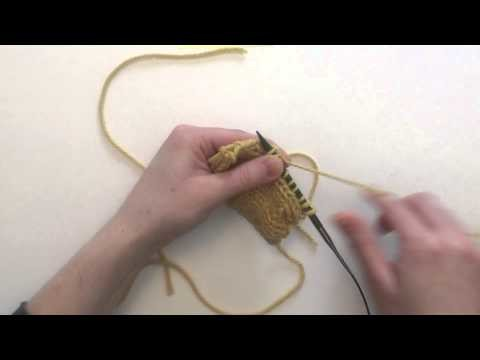 How to pick up stitches in stockinette