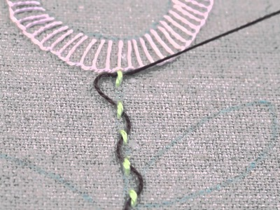 Learn How To Make an Interlaced Running Stitch - Pearl 5