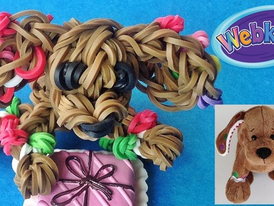 "Loom Bands. Rainbow Loom Christmas dog charm ""Webkinz Gingerbread Puppy"" inspired by Ganz"