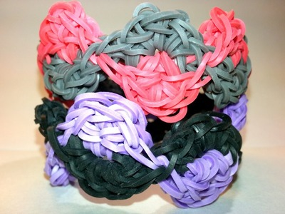 ONE LOOM S Curve Bracelet Tutorial by feelinspiffy (Rainbow Loom)
