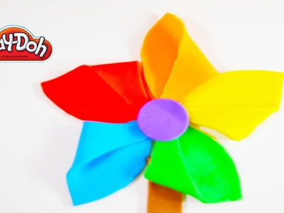 PIN WHEEL How to make a rainbow Pin wheel with PLAY DOH. Easy to make