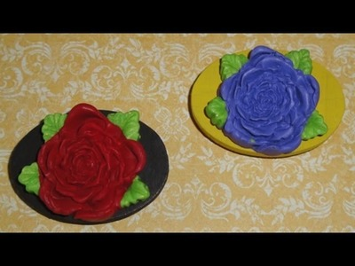 Polymer Clay Rose Fridge Magnets