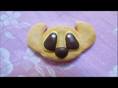 Polymer clay - Stitch cookie tutorial