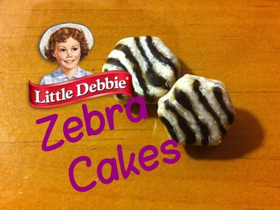 Polymer Clay Tutorial: Little Debbie inspired Zebra Cakes