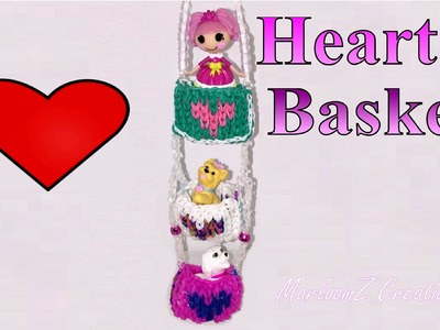 Rainbow Loom 3D Valentines Day Heart Basket - Mural