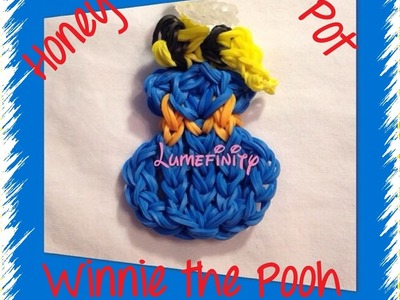 Rainbow Loom bands Winnie the Pooh Honey Pot charm figure by Lumefinity - How to
