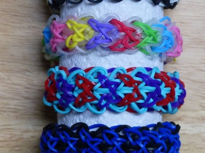 "Rainbow Loom Bracelet - Original Design - ""DREAM WEAVER"" (ref # 5u)"