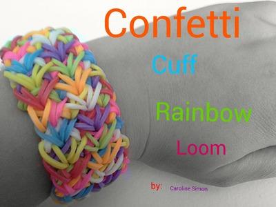 Rainbow Loom Confetti  Cuff