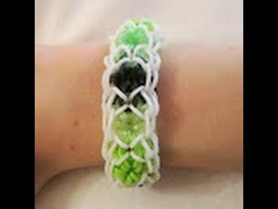 Rainbow Loom- How to make the Beautiful Burst Bracelet (Variation of the Starburst)