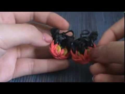 Rainbow Loom Mickey Mouse Charm ONE LOOM!!!!!---ORIGINAL DESIGN