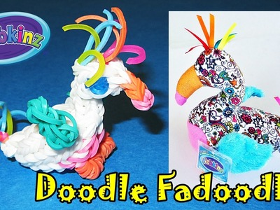 """Rainbow Loom: """"Webkinz Doodle Fadoodle"""" inspired by Ganz (made with Loom bands)"""