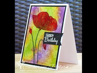 Alcohol Inks Background Card!  Part two with Catherine Pooler
