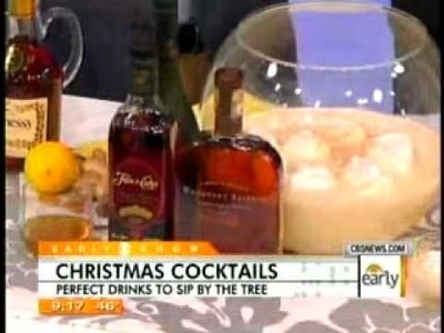 CBS Early Show: Christmas Cocktails
